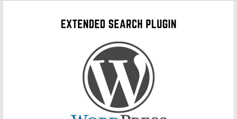 Wordpress Extended Search Plugin