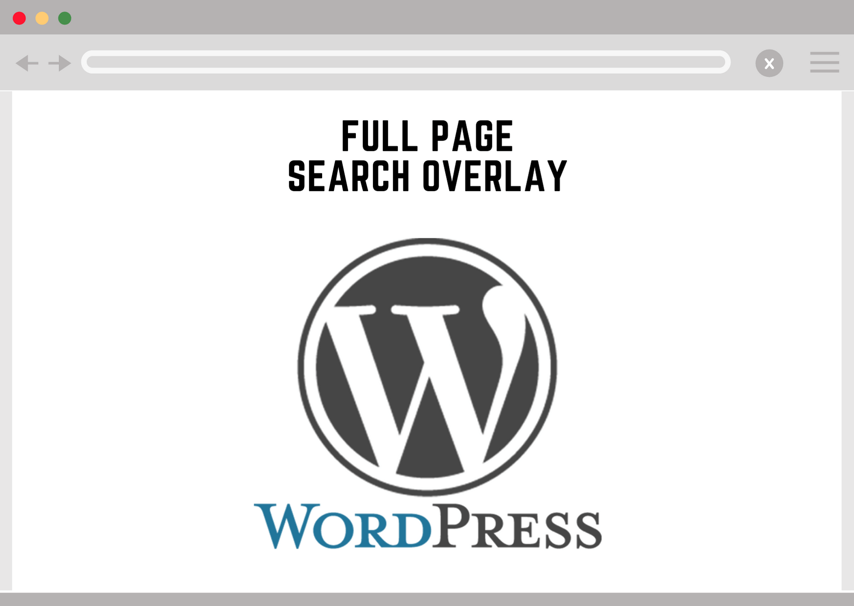 Wordpress Full Page Search Overlay