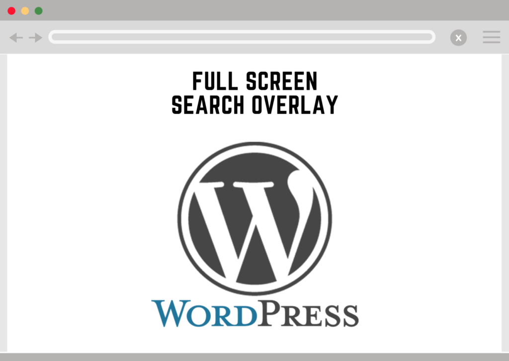 Wordpress Full Screen Search Overlay Plugin
