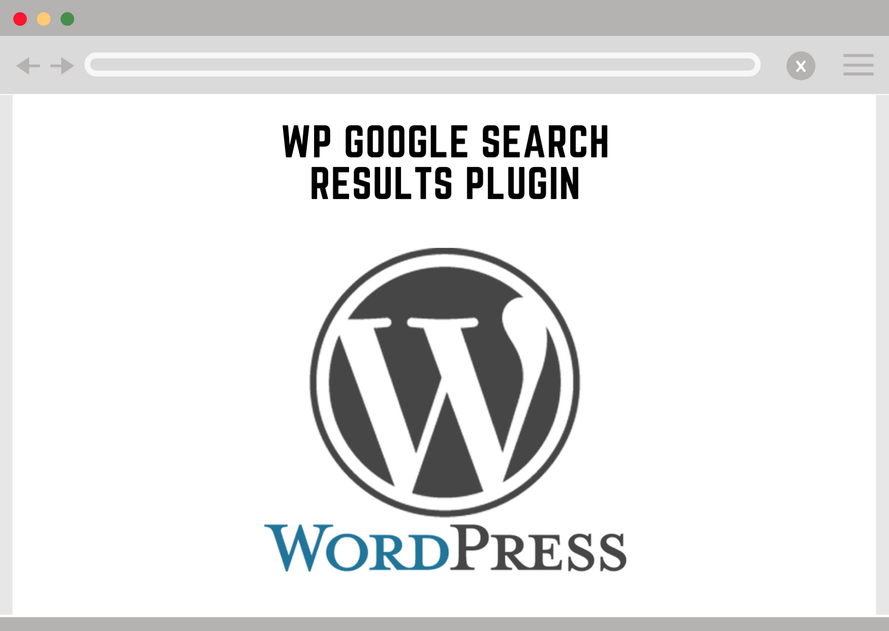 Wordpress Google Search Results Plugin