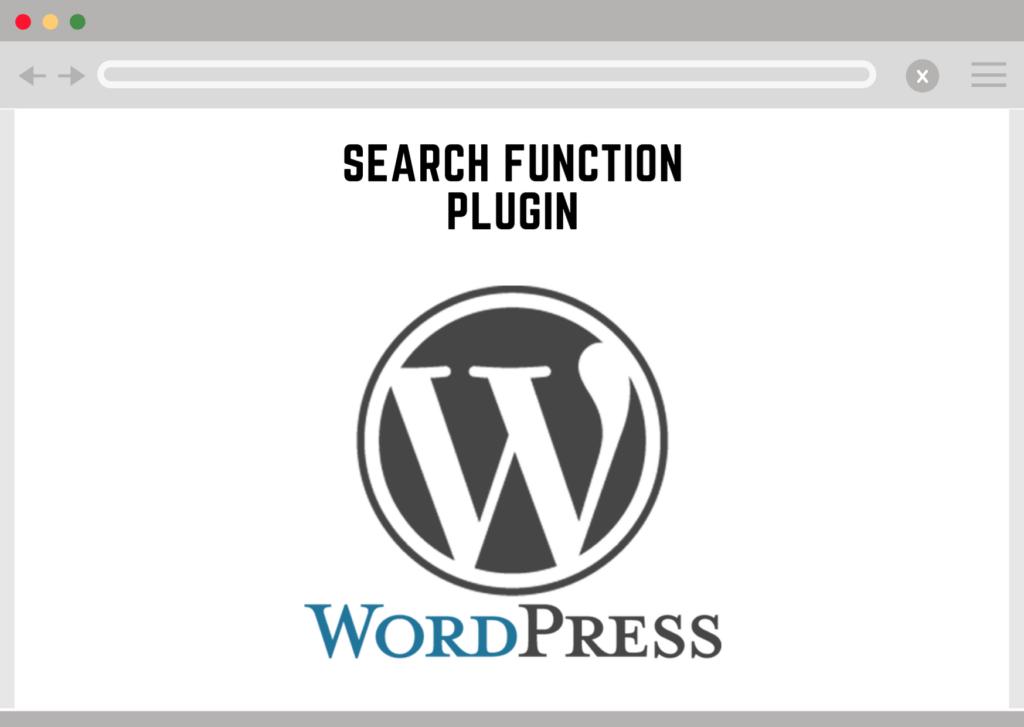 Wordpress Search Function Plugin
