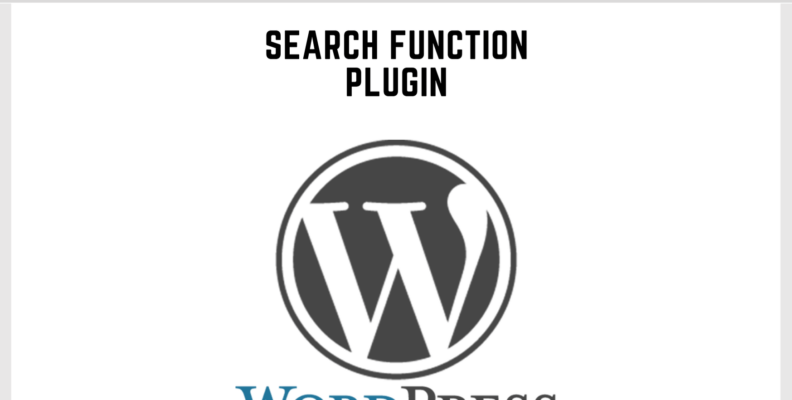 Wordpress Search Function Plugin