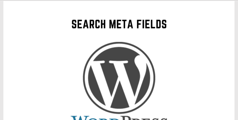 Wordpress Search Meta Fields