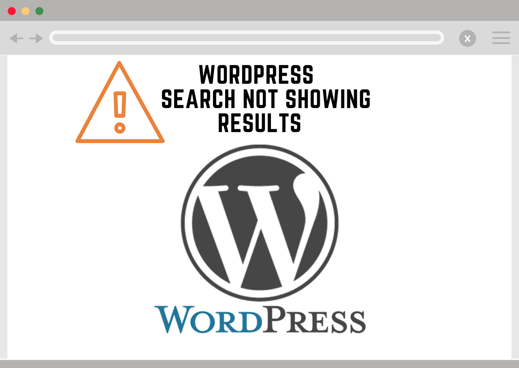 Wordpress Search Not Showing Results