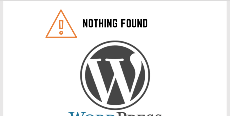 Wordpress Search Nothing Found