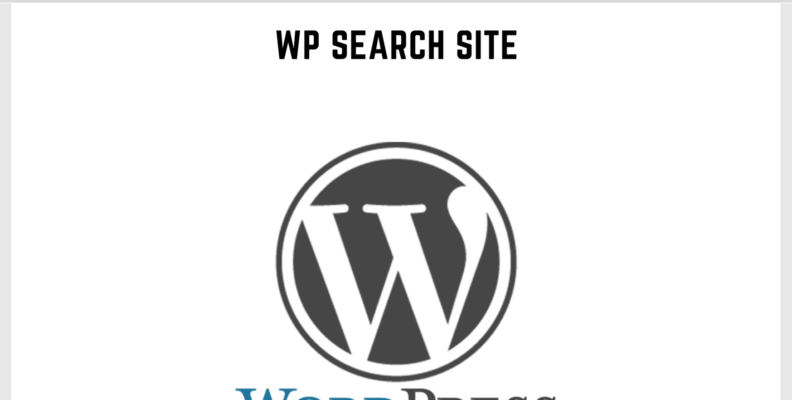 Wordpress Search Site