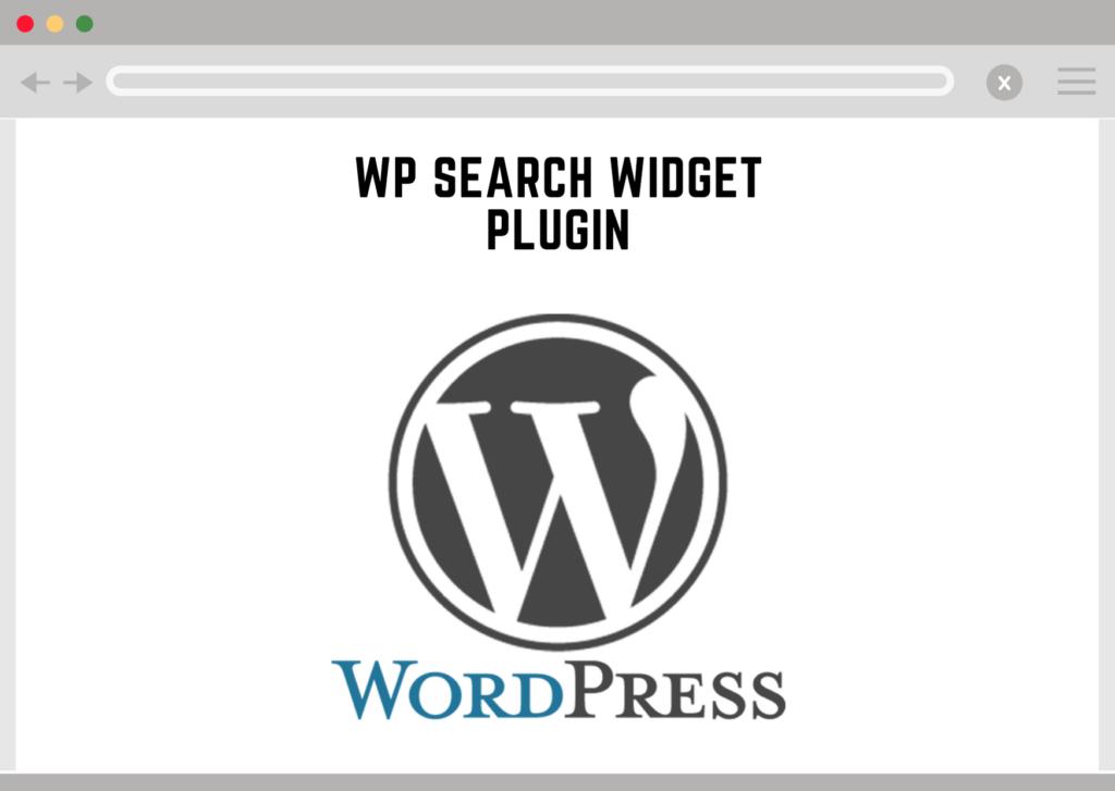 Wordpress Search Widget Plugin