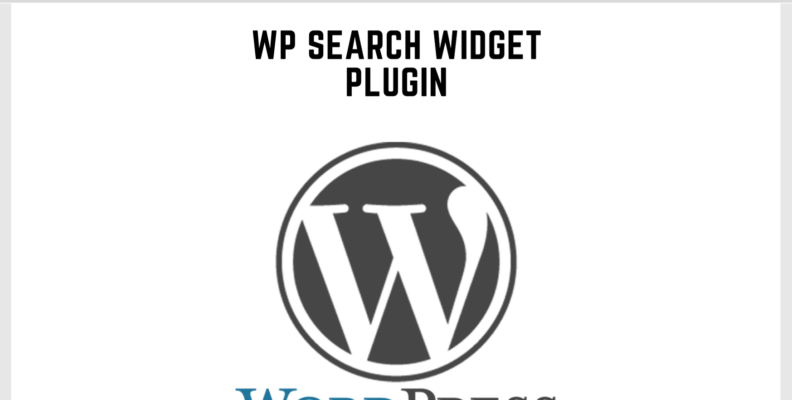 Wordpress Search Widget Plugin