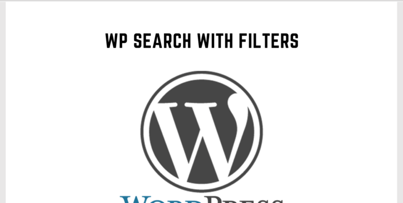 Wordpress Search With Filters