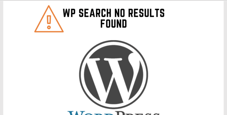 Wordpress Search no Results Found