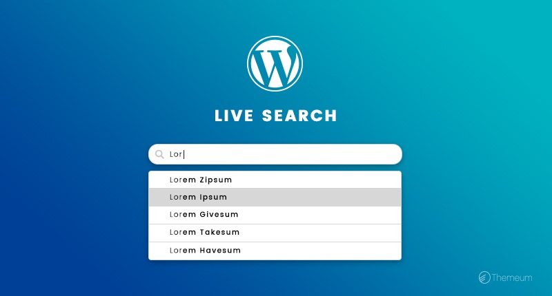 WordPress Live Search Feature