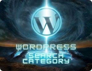 Wordpress search category