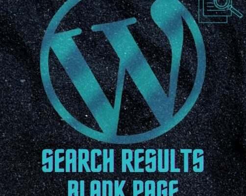 Wordpress Search Results Blank Page