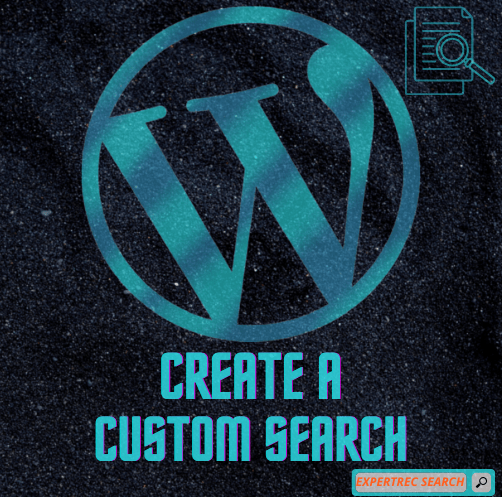 How to create a wordpress custom search