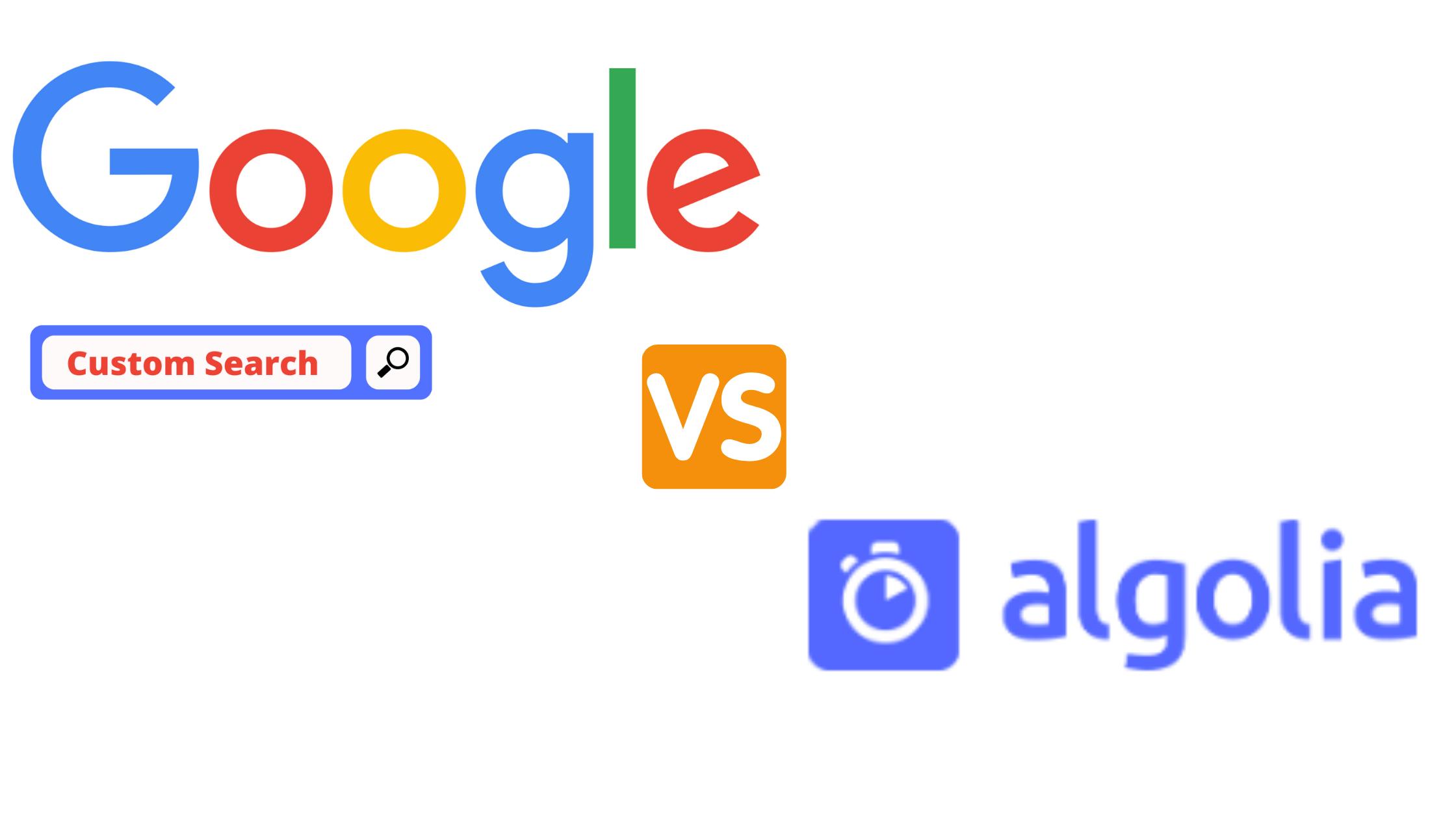 Algolia vs Google Custom Search