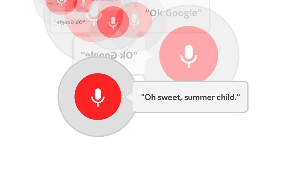 Ok Google text overlap