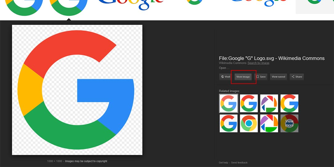 Google Image View Image