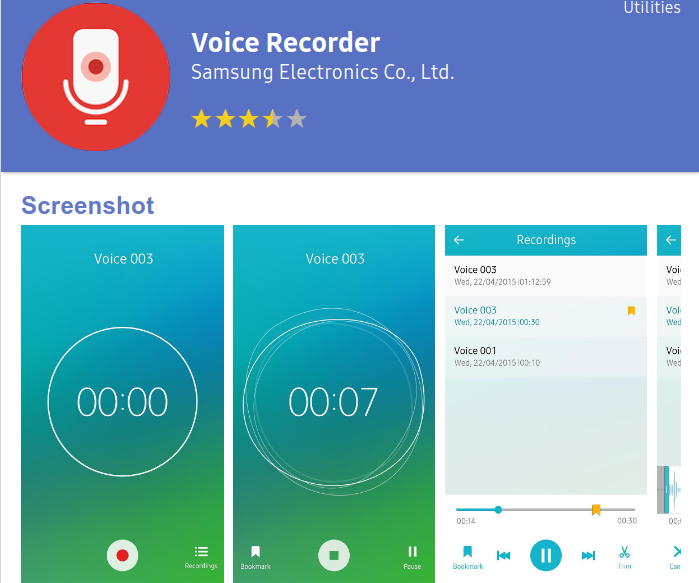 voice search app for samsung z4