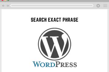 wordpress search exact phrase
