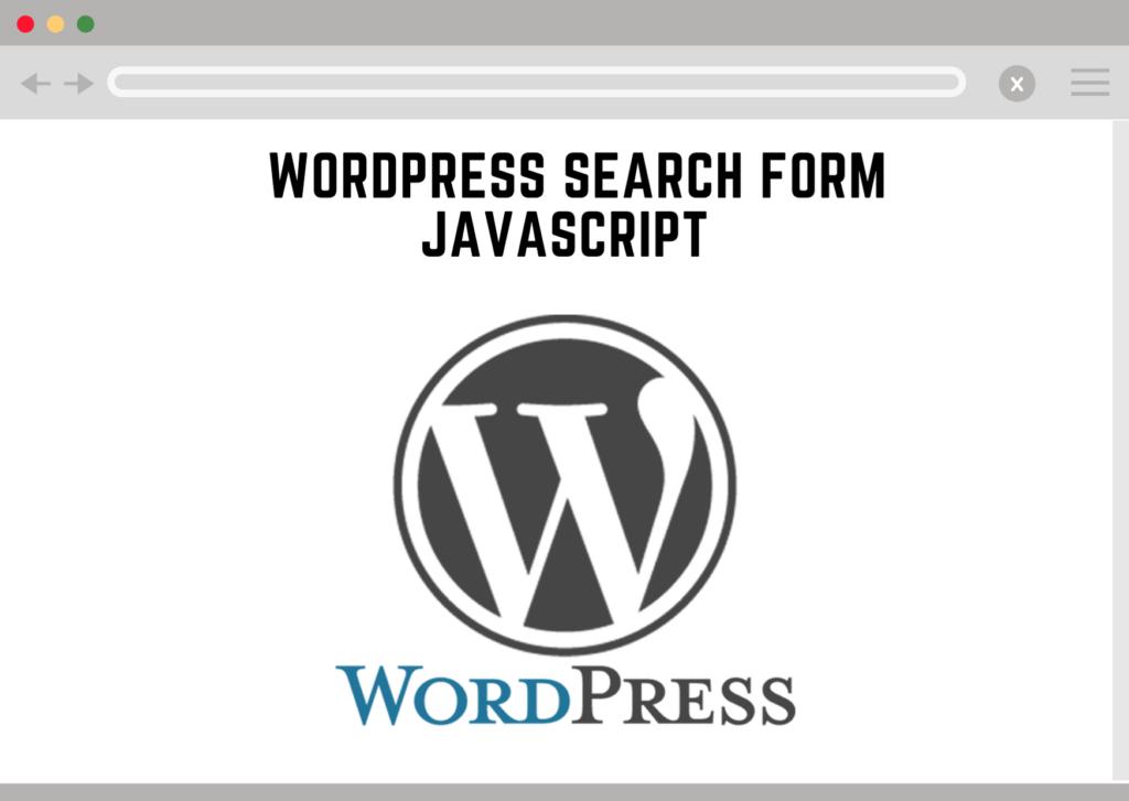 wordpress search form javascript