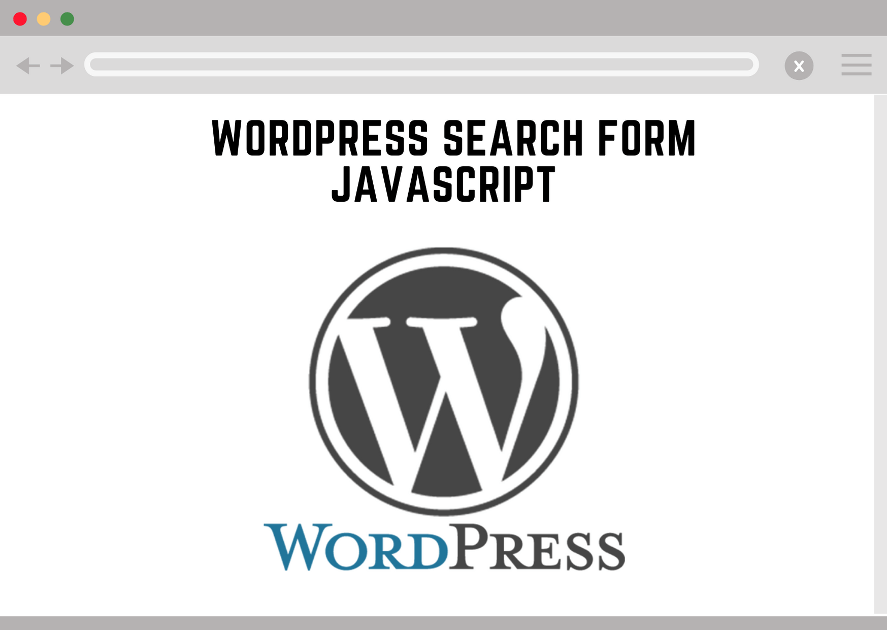 wordpress search form javascript