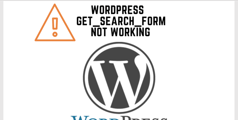 wp get_search_form not working