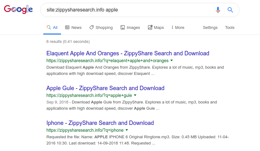search zippyfile share