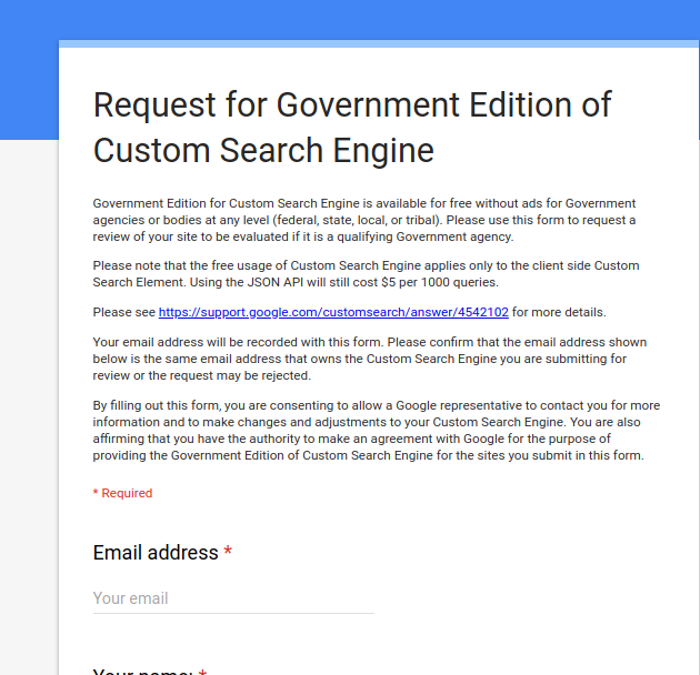 google site search government agencies