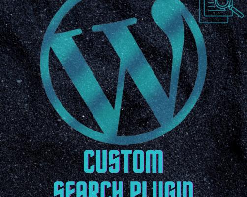 Custom Search Plugin for Wordpress