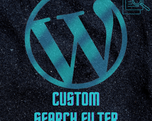 Custom Search Filter Wordpress