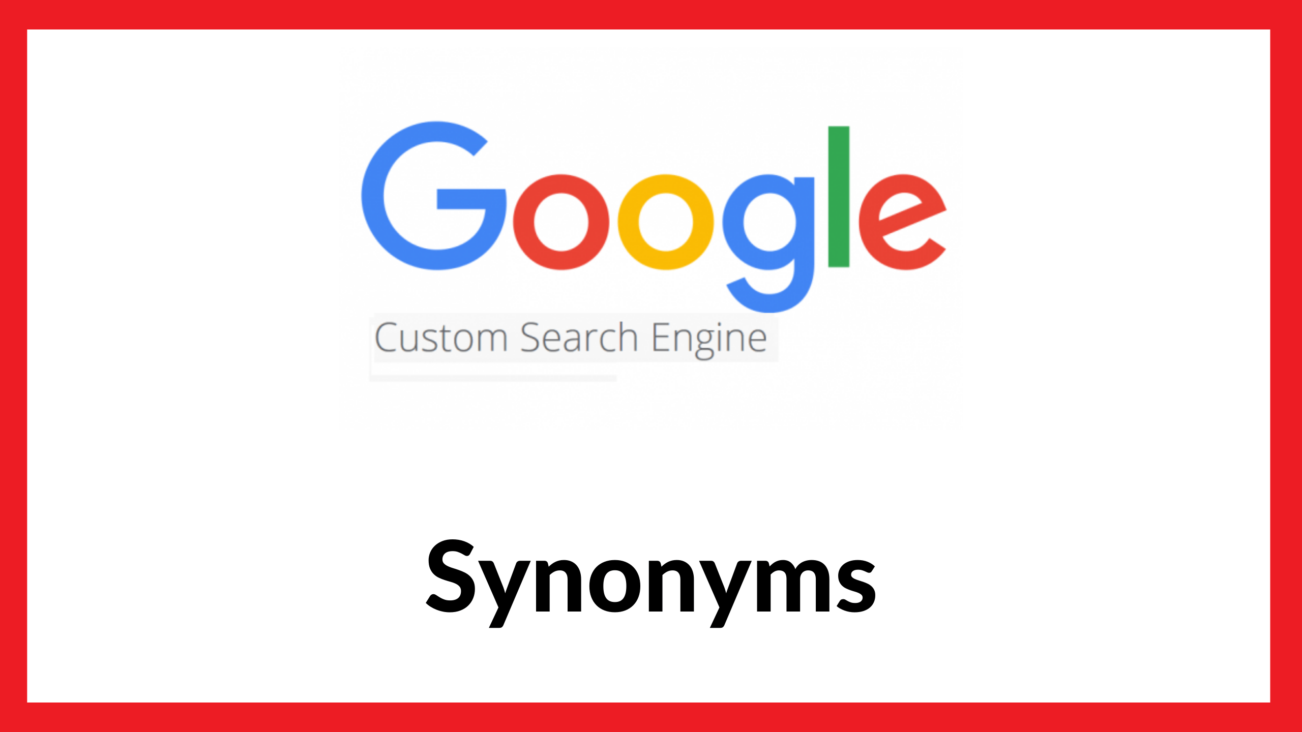 Google Custom Search Synonyms