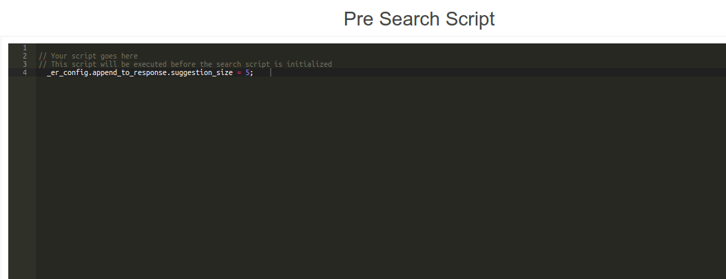 Pre search script custom search