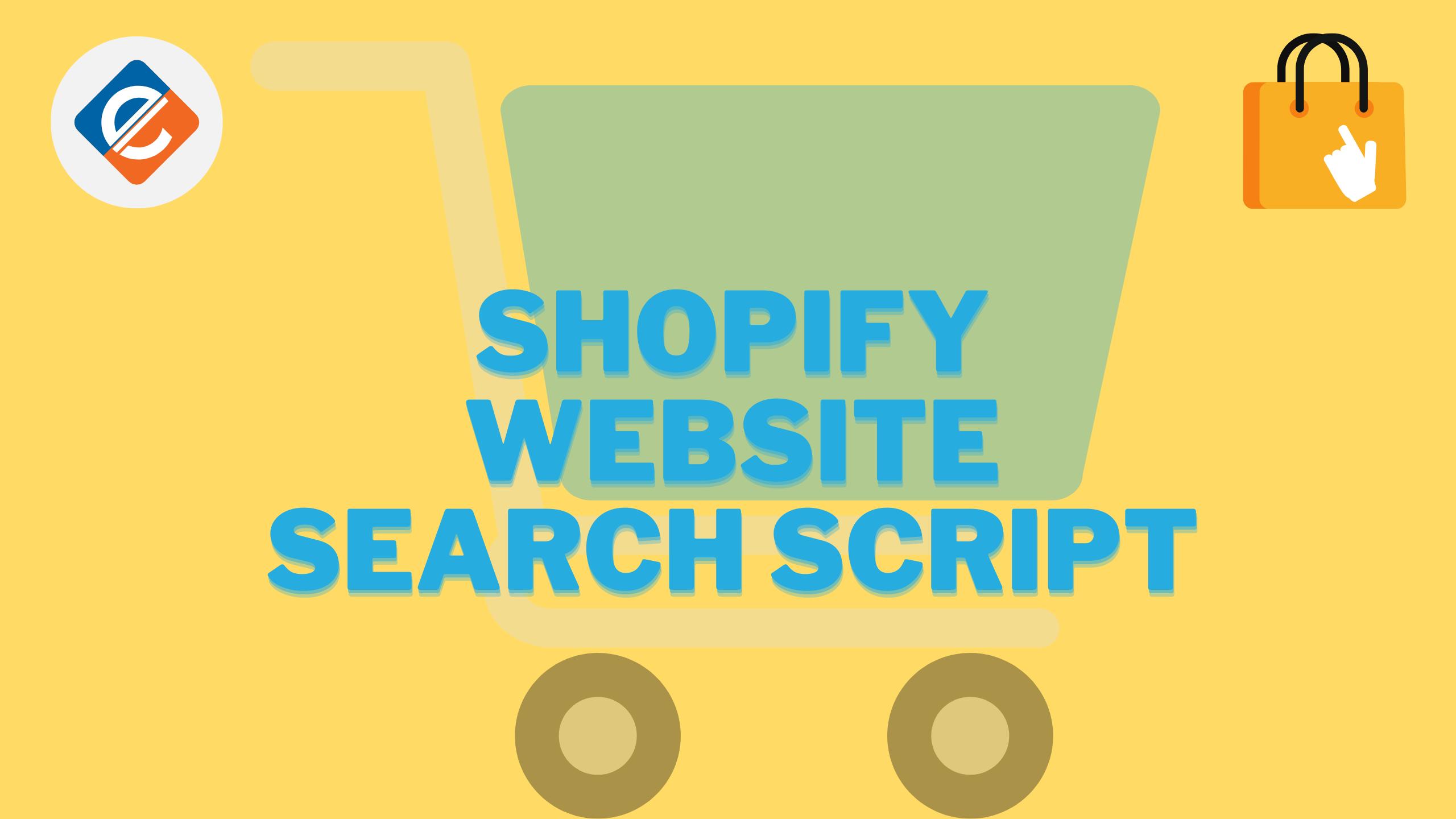 Shopify Website Search Script