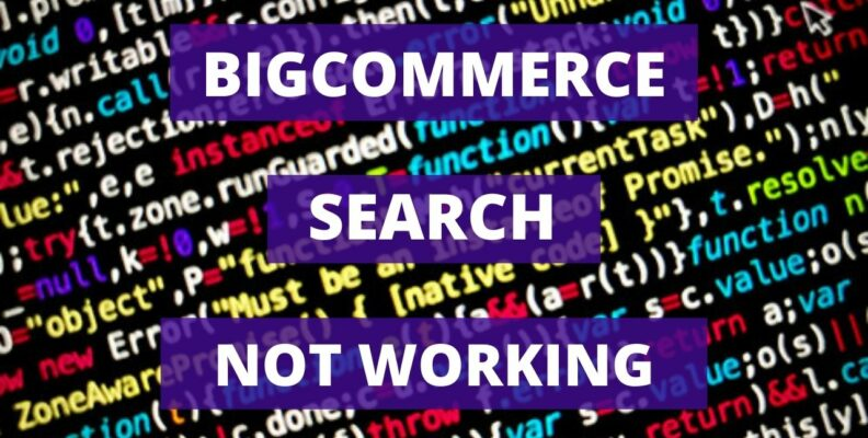 Bigcommerce Search not Working