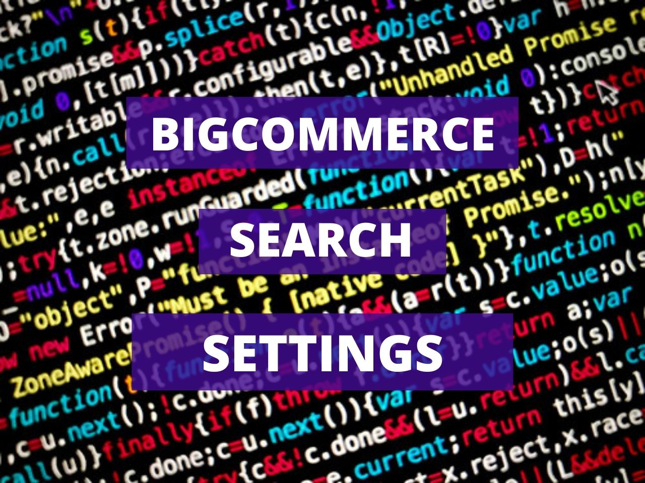 Bigcommerce Search Settings