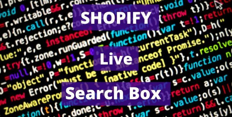 Shopify Live Search Box