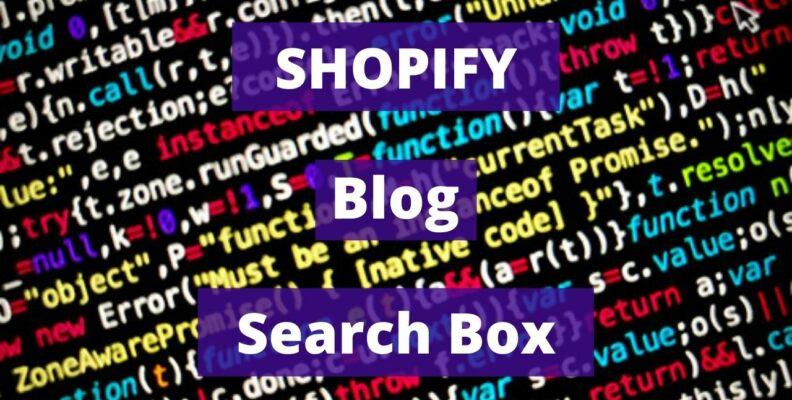 Shopify Blog Search Box