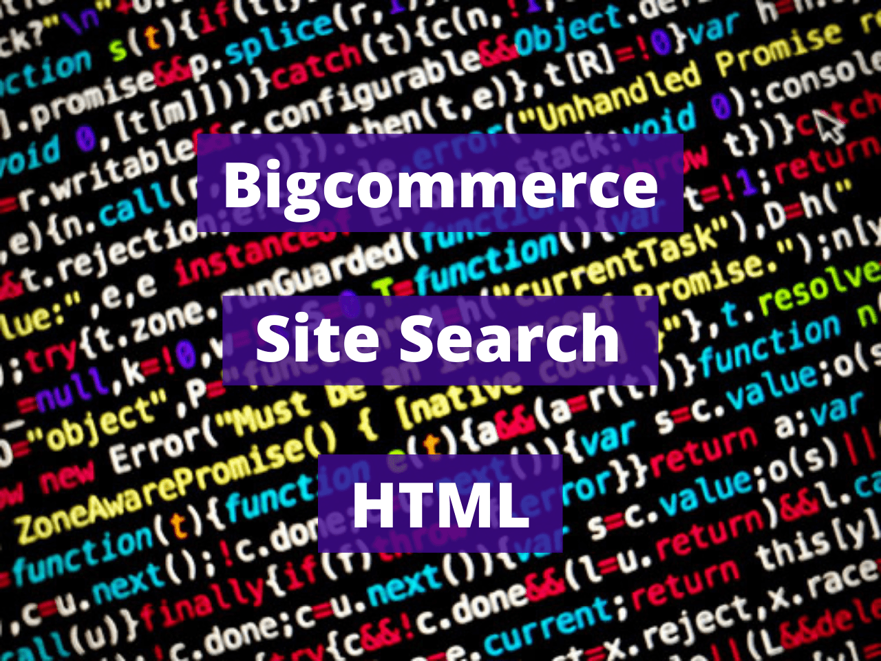 Bigcommerce Site Search HTML