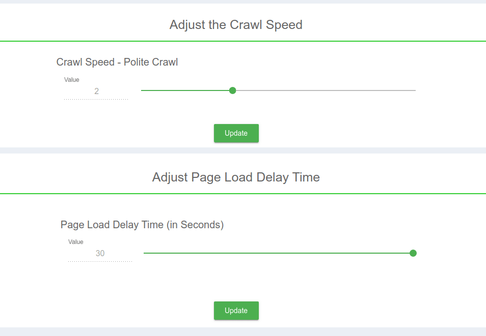 crawl speed custom search