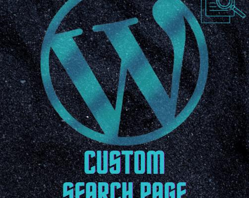 Custom Search Page Wordpress Plugin