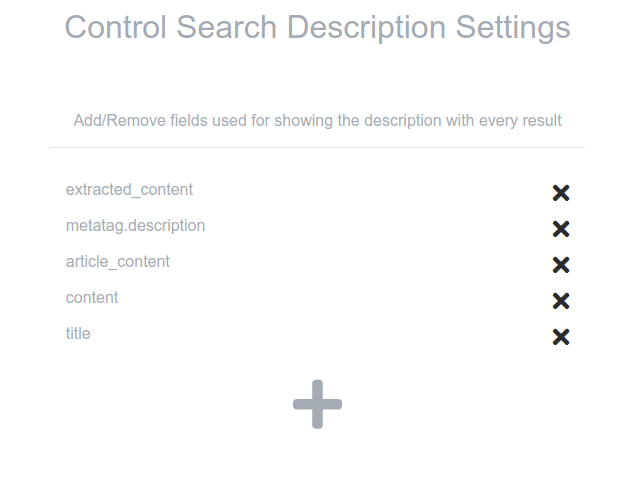 custom search description settings