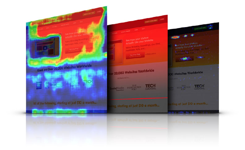 site search heat maps