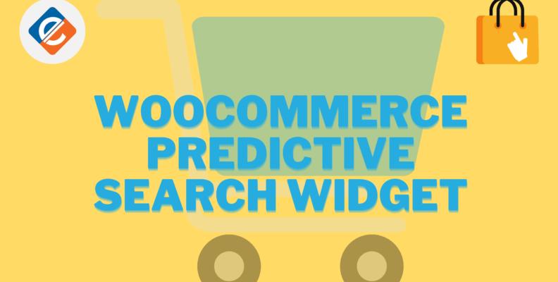 Woocommerce Predictive Search Widget