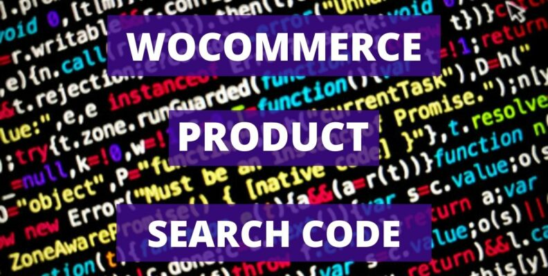 Woocommerce Product Search Code