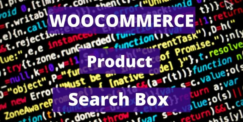 Woocommerce Product Search Box Widget