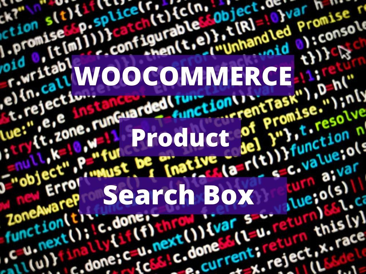 Woocommerce Product Search Box Widget