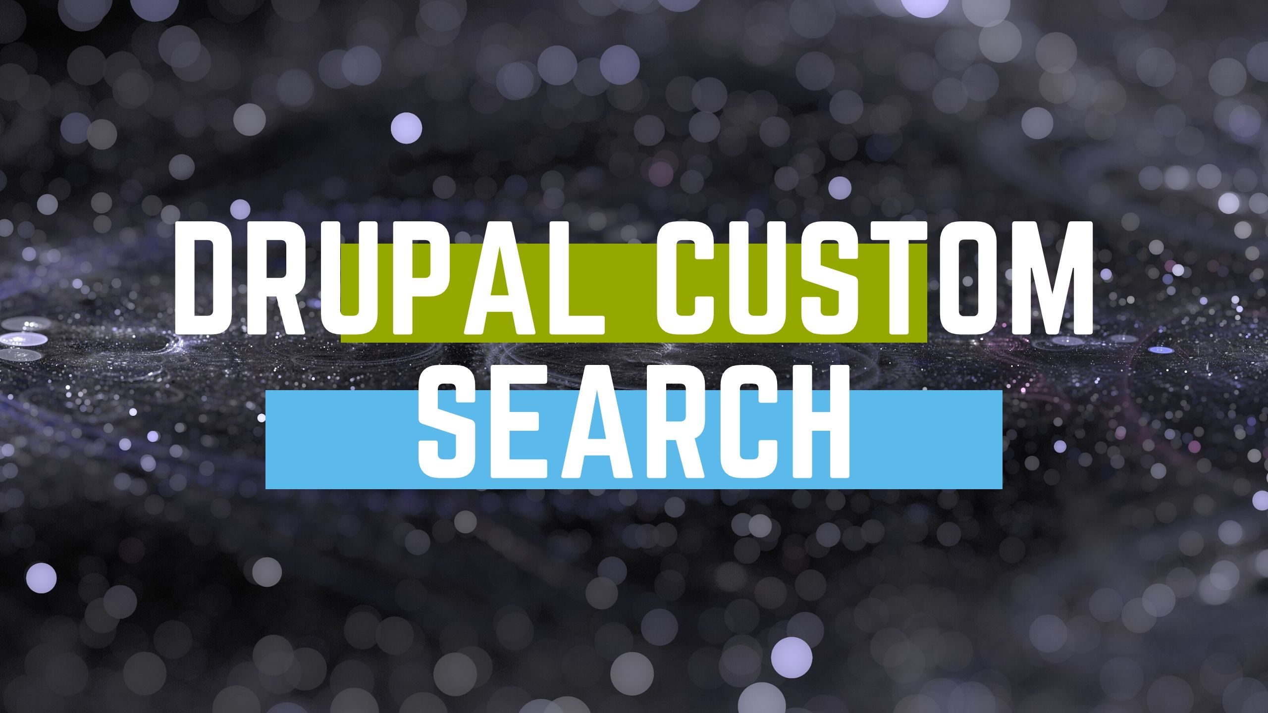 drupal custom search