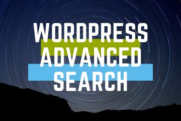 Wordpress advanced search