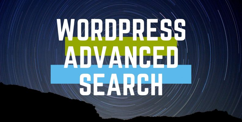 Wordpress advanced search