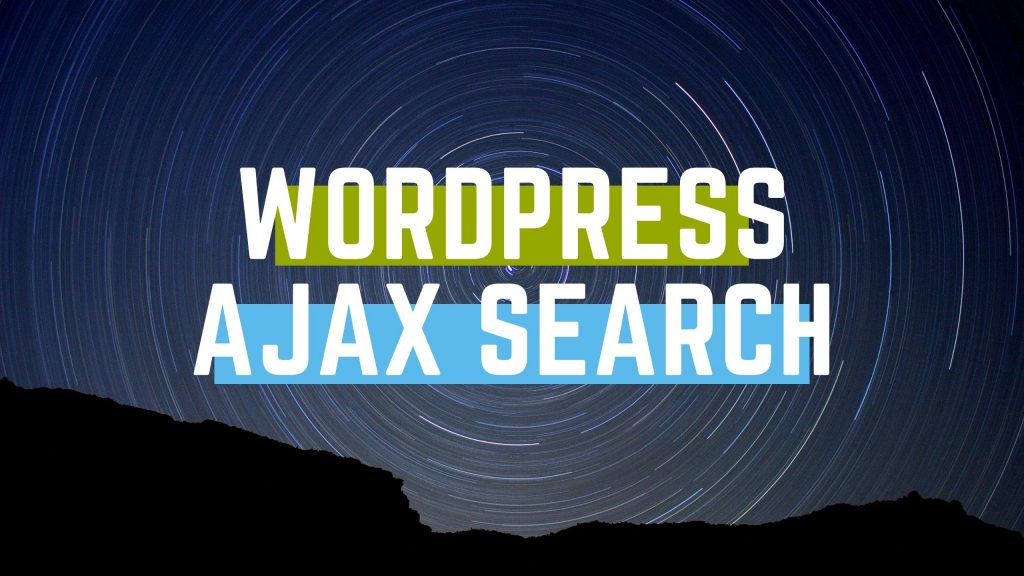 wordpress ajax search